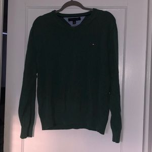 Green Tommy Hilfiger pullover sweater